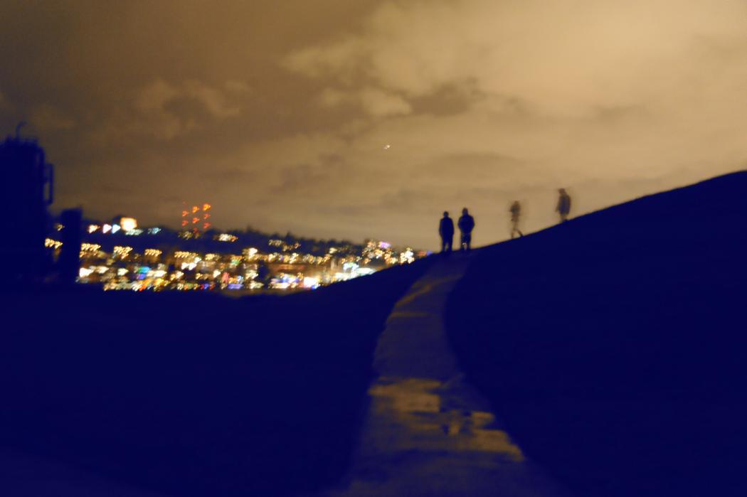 Gasworks Park, winter night