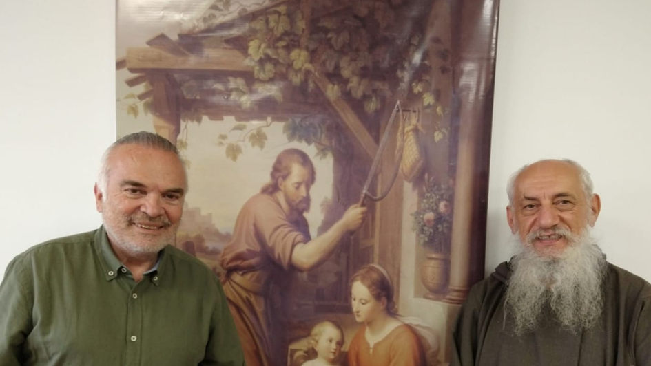 Con Fray José María de las Cinco Llagas OFMR - Director Espiritual