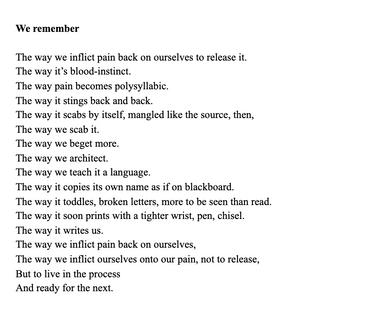 """""""We Remember"""" by Meimei Xu @meimeixu7"""