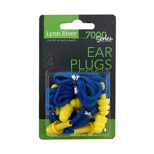 LYNN RIVER REUSABLE CORDED EARPLUGS CL4 - 5 PAIRS