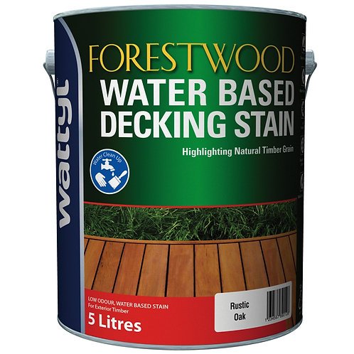 FORESTWOOD WATER BASED DECKING STAIN 5L