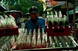 Coke delivry on bike