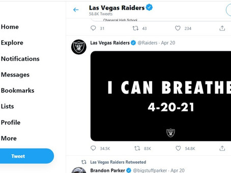 Difficult Play - Assessing the Las Vegas Raiders' 'I Can Breathe' Tweet