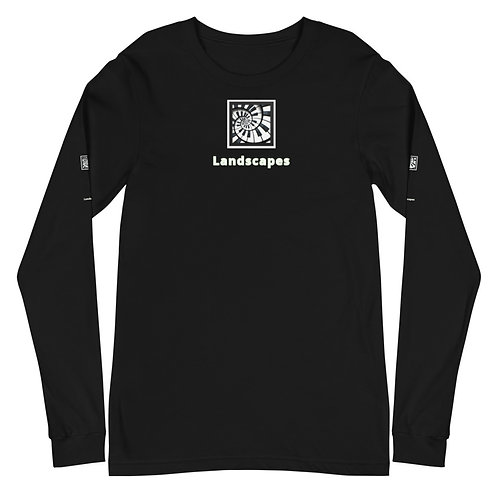 'Landscapes' Piano Spiral Unisex Long Sleeve Tee