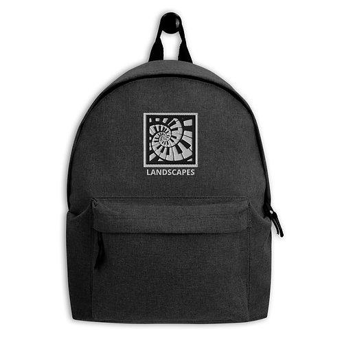 'Landscapes' Embroidered Backpack