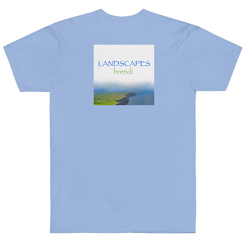 'Landscapes' & Piano Spiral American Apparel T-Shirt