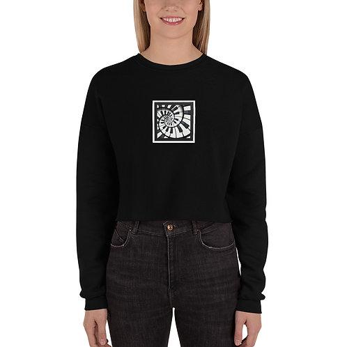 Piano Spiral Crop Sweatshirt