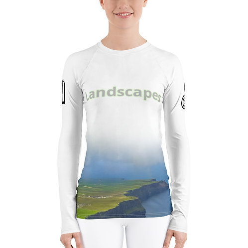 'Landscapes' Women's Sports Longsleeve