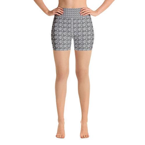 Piano Spiral Yoga Shorts
