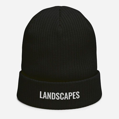 'Landscapes' Organic ribbed beanie