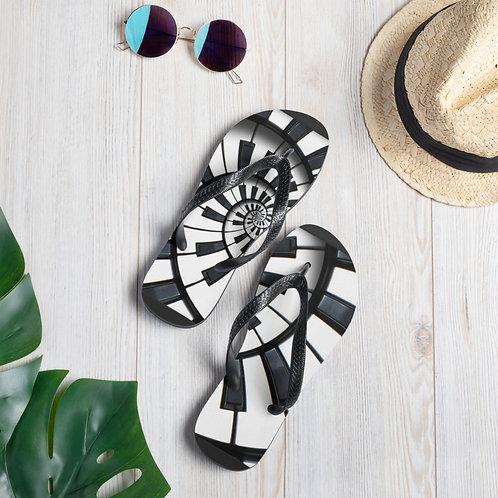 Piano Spiral Flip-Flops