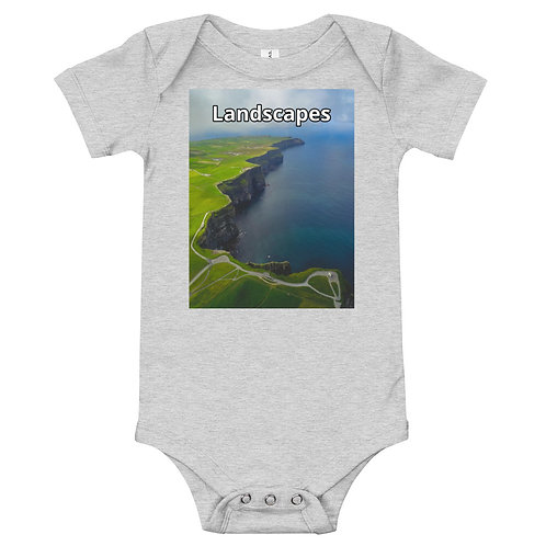 'Landscapes' Baby short sleeve one piece