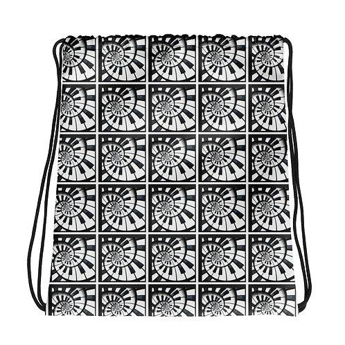 Piano Spirals Drawstring bag