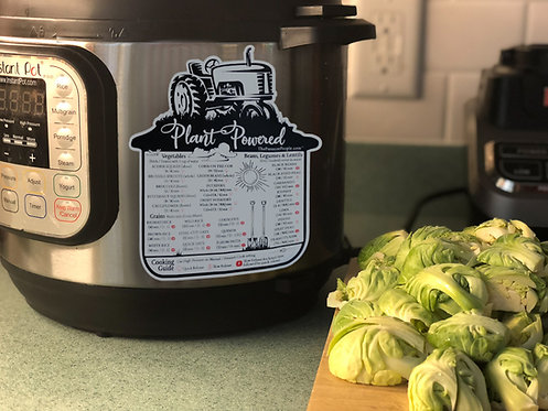 Plant Powered- Cooking Times Guide (Magnet)