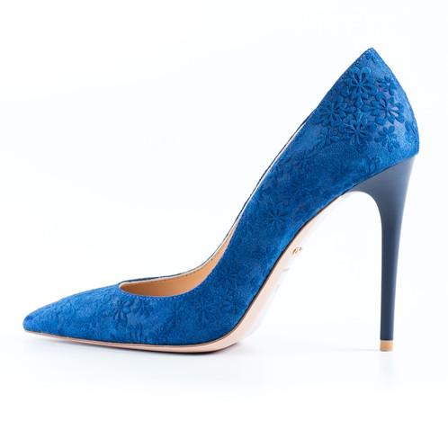 106f8deacb kék magassarkú; kék tűsarkú; kék alkalmi cipő ...