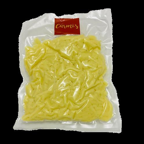 Mozzarella rallado, 450g.  Ideal para pizzas y gratinar.