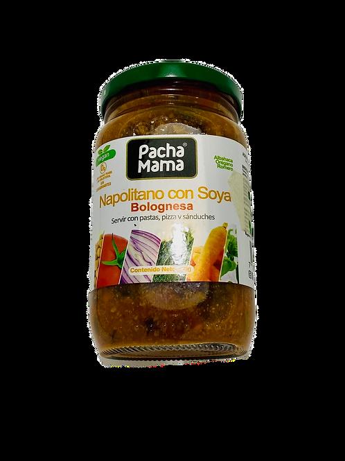 Bolognesa Vegana, proteina de soya. 360g