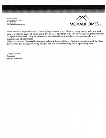 Testimonial Movali Homes