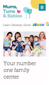 Community & Education website templates – Mom and Baby Center