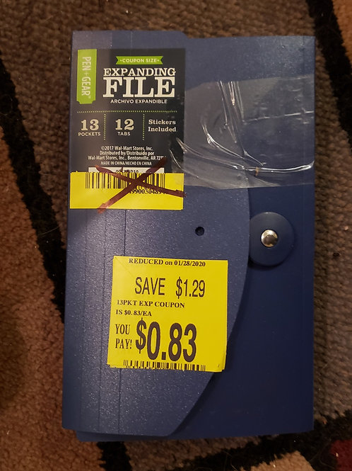 Office Products - Expanding file - Check/Coupon