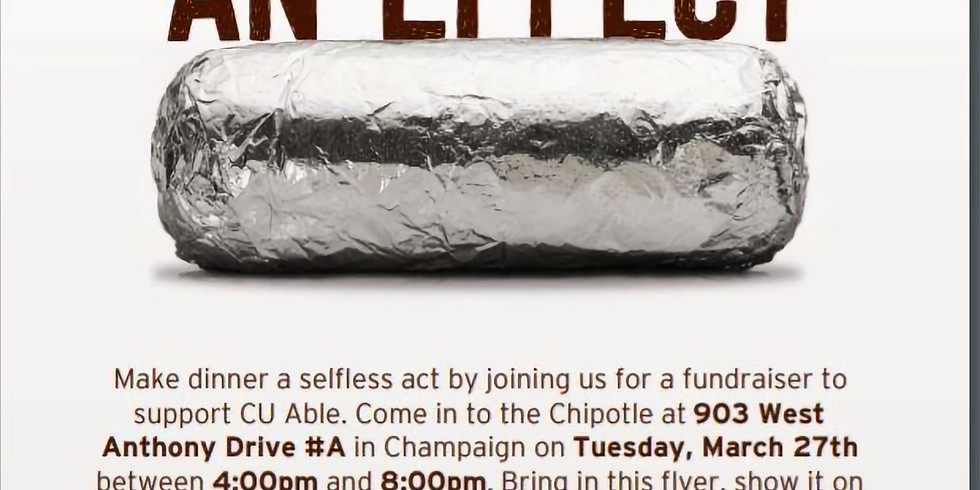 Chipotle Fundraiser for CU Able