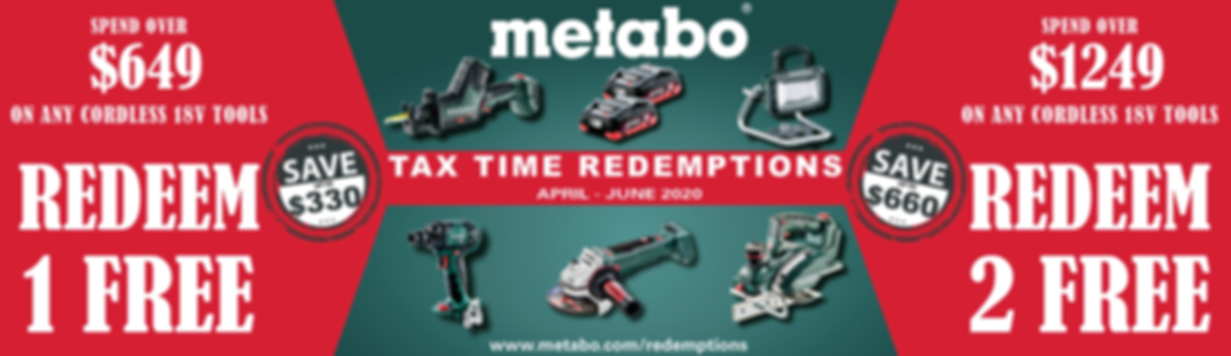 METABO REDMEPTION OFFER BANNER FOR GROUP