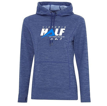 Vic Half Blue Hoodie with logo - square.