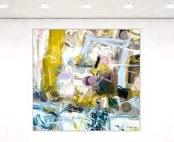 Pont  48x48 oil on linen Canvas