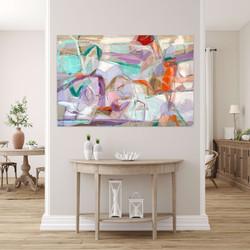 Let me talk  45x60 oil on linen canvas .