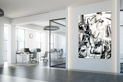 Encre noire  48x60 oil on linen canvas