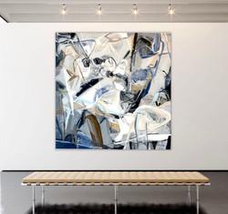 Récent Rêve 55x55 oil on linen Canvas