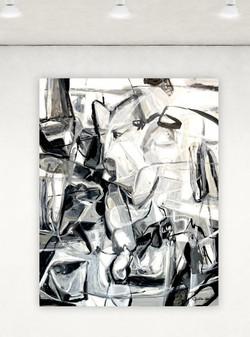 Encre noire  48x60 oil on linen canvas .