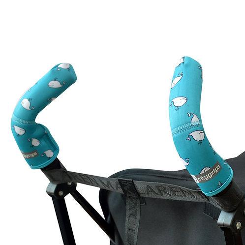 כיסוי ל- 2 ידיות טיולון/עגלה סיטי גריפס קצרים בצבע טורקיז לויתנים - צ'ופי