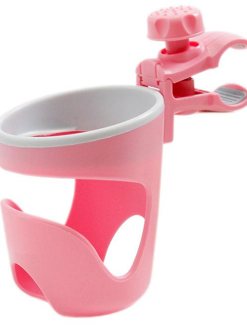 מתקן כוסות ובקבוקים לעגלת תינוק ורוד או תכלת
