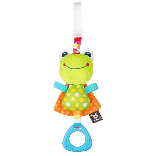 צעצוע עגלה או סלקל נתלה ג'יטר רוטט צפרדע בנבת
