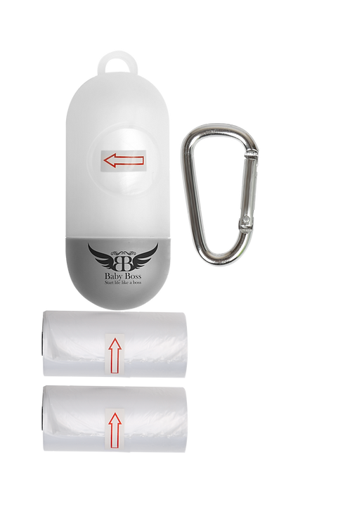 סיטי טראש הולדר - מתקן לשקיות אשפה לעגלת תינוק + מארז שקיות מתנה