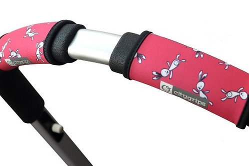 כיסוי לידית עגלה סיטי גריפס קצרים בצבע ורוד שפנים - צ'ופי
