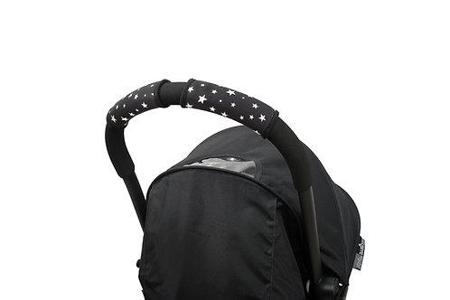 כיסוי לידית עגלה סיטי גריפס קצרים בצבע שחור כובכבים - צ'ופי