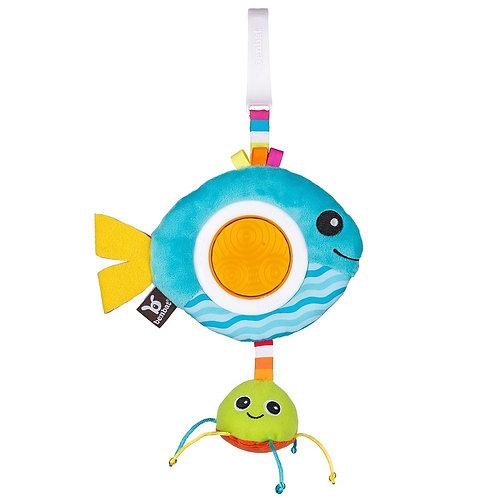 רעשן רב חושי לתינוק עם חוליית תליה - דג בנבת
