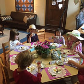 Tea parties are part of Grace Neighborhood Nursery School's rich, play-based curriculum.