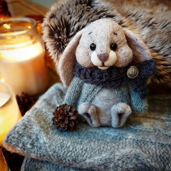 Winter Beige Bunny