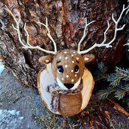 Wool Deer Wall-Mount