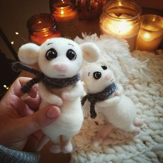Reserved for Hope - Needle-felted Nervous Mouse