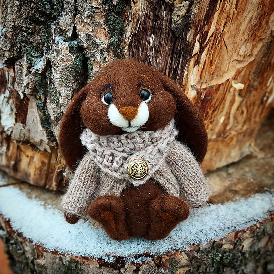 Gentleman Bunny in Brown