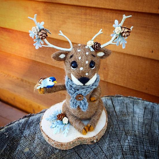 Radford the Reindeer with Blue Bird