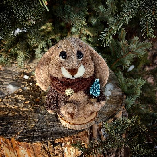 Winter Bunny in Alpaca wool