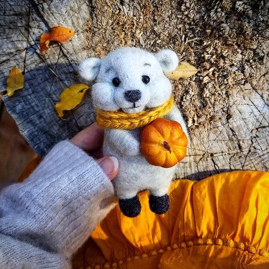 Bare Bear with Pumpkin