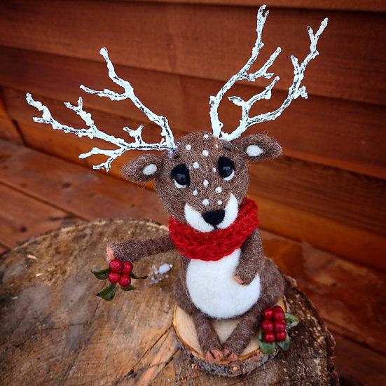Christmas Reindeer with berries