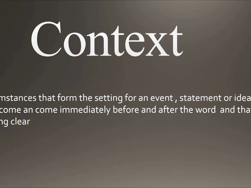 Using context in trading