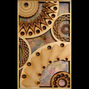 mandala painting - celestial event V1